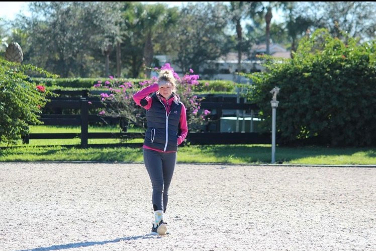 Emily Gill teaching Dressage