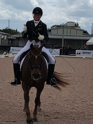 Emily Gill at Kahlaua at a horse show